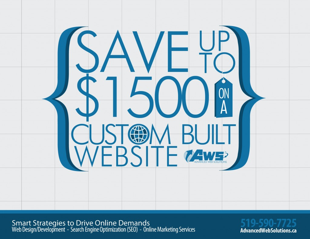 Save big on a new or redesigned website